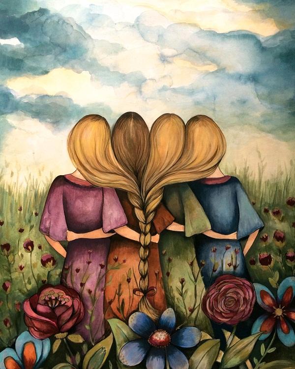 Imágenes graciosas de 4 hermanas