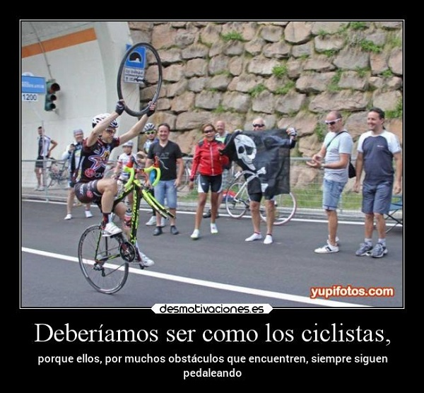 Imágenes graciosas en bicicleta