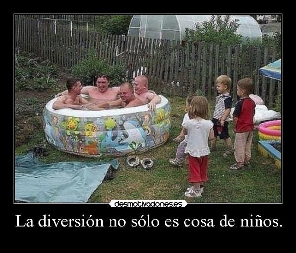 Imágenes graciosas en la piscina