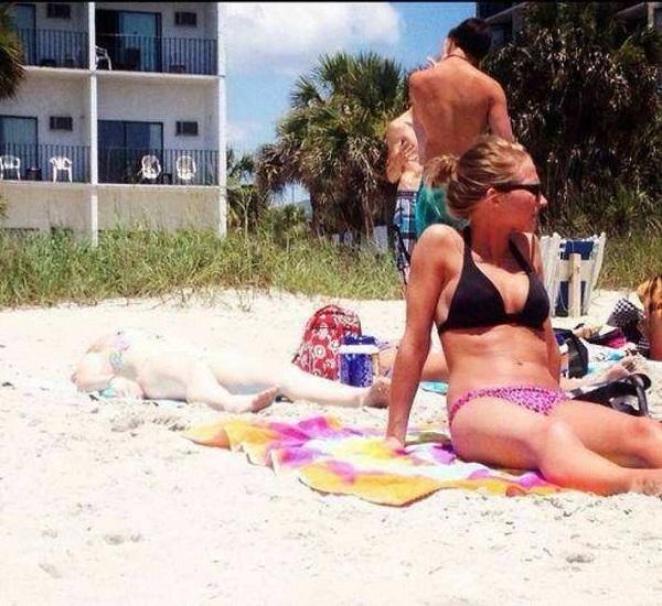 Imágenes graciosas en la playa