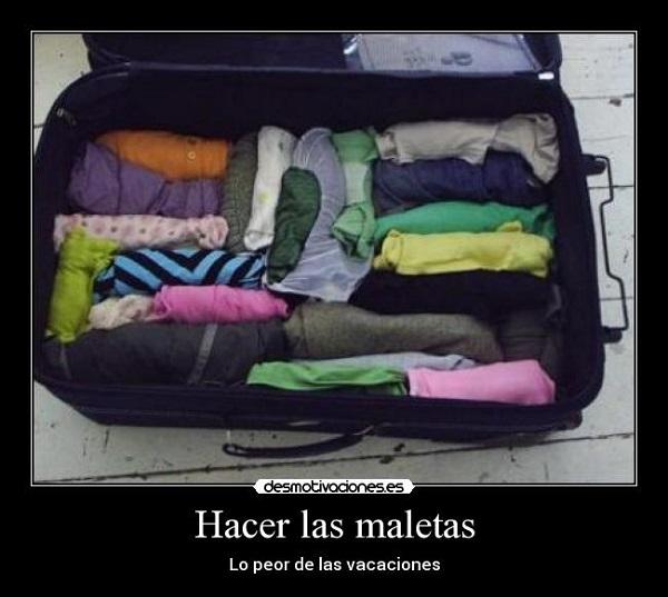 Imágenes graciosas haciendo maletas